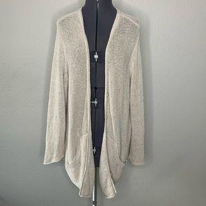 Eileen Fisher oatmeal beige loose knit cardigan 2X